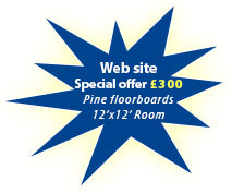Special offer - £300 pine floorboards, 12x12 feet