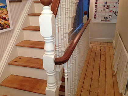 Staircase after sanding