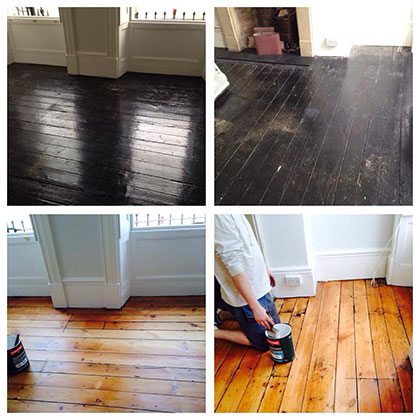 Varnish a floor